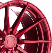 4 20x9 20x12 Staggered Rohana Wheels Rfx1 Red Concave Rims A4