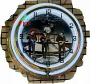 The Beatles Double Neon Red/white Wall Clock Car Truck Automotive Sign