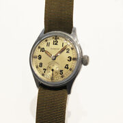 Timor British Army Atp Cal.peseux190 Manual Vintage Watch 1940and039s