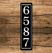 Personalized Home Address Sign Aluminum 3 X 12 Custom House Number Plaque Sq9
