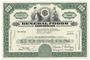 General Foods Corp. Stock Issued To John D. Rockefeller 3rd