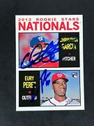 2013 Topps Heritage Rookie Christian Garcia Eury Perez 167 Signed Auto In Person