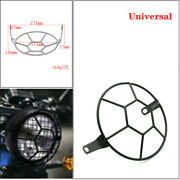 Retro Dome Headlight Mesh Cover Metal For Motorcycle Gm 5.75 Inch Headlights