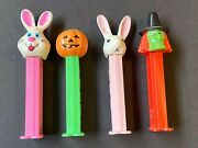 Two Vintage Halloween And Two Vintage Easter Pez Dispensers