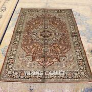 Yilong 4and039x6and039 Antique Handmade Classic Silk Flooring Bedroom Carpet Area Rug 013b