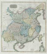 China Showing Route Of George Macartney's Embassy In 1793. Thomson 1830 Map