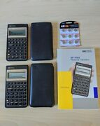 2 X Hp 17bll Financial Calculators With Cases, Manual, And Extra Batteries