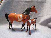 Breyer 497679 Proud Arabian Mare And Foal Set 1988 Sears Holiday Catalogue 3500