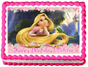 Tangled Party Edible Cake Topper Image