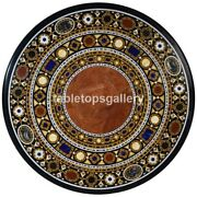 48 Marble Dining Table Top Multi Stone Mosaic Inlay Work Restaurant Decors B394