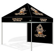 10x10 Commercial Fair Canopy Custom Logo Digital Printed Pop Up Tent And Back Wall