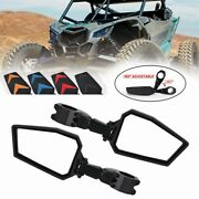 Wide Angle Adjustable Rearview Mirror 1.75 For Utv Sxs Rzr Plastic Side Mirror