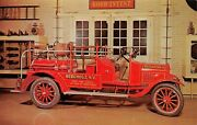 Model T Ford Fire Truck Firemanand039s Home State Of N.y Museum Hudsonny Postcard