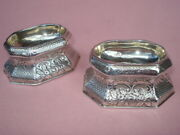 Pair Of English Sterling Salt Cellarand039s Trenchers Circa 1789 By James Walters