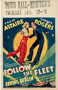 Follow The Fleet Original Movie Poster 1936 Astaire Rogers Hollywood Posters