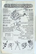 1978 Bay Con Iv Adverstising Poster For San Francisco Comic Book Convention