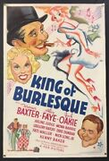 King Of Burlesque Movie Poster Alice Faye Jack Oakie 1935 Hollywood Posters