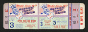 1957 World Series Game 3 Top Quality Full Complete Ticket Mickey Mantle Home Run