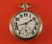 Antique Illinois Bunn Special Pocket Watch 16 Size 21 Jewels Gold Fill Ca.1917