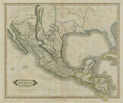 Mexico And Guatimala With The Republic Of Texas. Lizars 1842 Old Antique Map