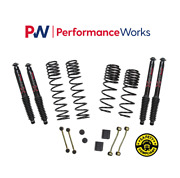 Skyjacker For 18-19 Jeep 2-2.5 Dual Rate-long Travel Lift Kit Black Max Shocks