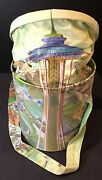 Vintage Seattle Worlds Fair Needle Bucket Come To The Fair Millworth Fabric