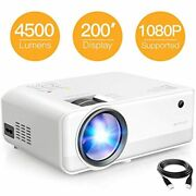 Mini Projector 4500 Lumen 1080p Supported 200and039and039 Display 50000 Hrs Led Free Ship
