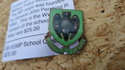 Wwii Military Police School Crest Justitia Et Virtus Pin Back