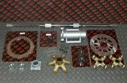 New +2 Banshee Rear Setup Axle Carrier Rotor + Hubs + Sprocket 38 Tooth Chrome
