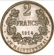 Luxembourg 1914 2 Francs Ag