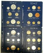 4 Pages 1971 1972 1973 1974 Fao Food For All Silver And Other World 34 Coins Set