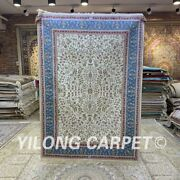 Yilong 4'x6' Handknotted Silk Area Rug Home Decor Easy To Clean Carpet H301b