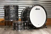Ludwig Classic Maple 3pc 24/12/16 Drum Set Vintage Black Oyster