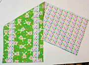 Handmade Quilted Table Runner Easter Eggs Bunnies Candy Eggs Jelly Beans Glitter