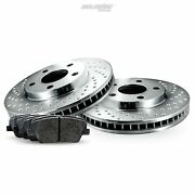 Rear Cross-drilled Brake Rotors Disc And Ceramic Pads For Contourcougar