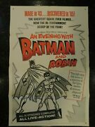 An Evening With Batman And Robin Original R-1965 Movie Poster, C8 Very Fine