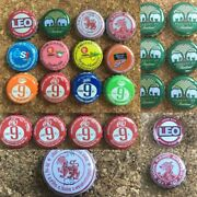 Set Collectible Used Bottle Caps Beer Soda Pop Rare Product Thailand Craft Gift