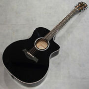 New Taylor 214ce-blk Dlx Acoustic Guitar From Japan