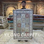 Yilong 2.5and039x4and039 Four Seasons Hand Knotted Silk Carpet Classic Home Area Rug H158b