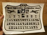 Vintage Us Military Photograph Caaf Officer Information Identification Chart