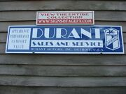 1920and039s Style Durant/usa Classic Motorcars Dealer/service Sign/garage Art 1and039x46
