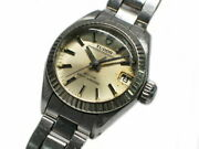 Tudor Princess Oyster Date 92314 Watch Silver Ss Automatic Ladies Antique Analog