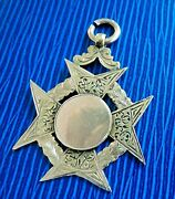 Attractive 9ct Gold Watch Fob Medal / Pendant H/m 1907 David Dow - Not Engraved