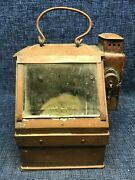 Lionel Us Navy Type Compass / Binnacle Copper And Brass Lantern Lifeboat