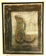 Very Rare Oil Painting Of GÉcin Sindon 1907-2000 // Montreal Canada 22 X 28