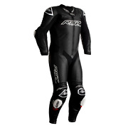 Rst V4.1 Kangaroo Airbag Black Ce One Piece Leather Riding Motorcycle Suit