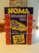 Vintage 1940and039s / 50and039s Country Store Noma Christmas Lights Counter / Wall Display