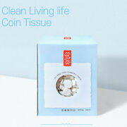 Magic Compressed Coin Style Tissue Wet Wipes 500 Pcs Made In Korea