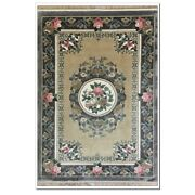Yilong 4and039x6and039 Flowers Handmade Silk Carpet French Style Hand Craft Area Rug