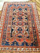 1890-1900 Antique Exceptional Rug With Great Colors All Over